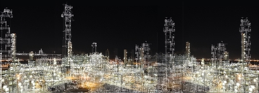 Petrochemical Plant incl. CAD-drawing. This picture was used for a banner at Olefin Academy 2016. size: 570 x 222 mm